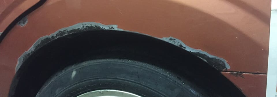 покраска и ремонт арок автомобиля фото повреждений
